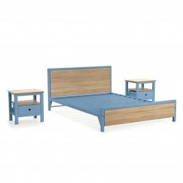 Cama doble + 2 mesas de noche 1 cajón