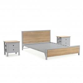 Cama doble + 2 mesas de noche 2 cajones