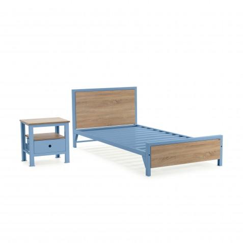 Cama sencilla + mesa de noche 1 cajón