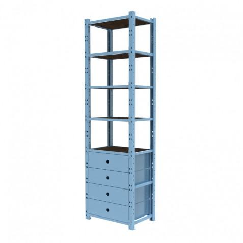 Closet 1 Módulo 60 cm Configuración 4